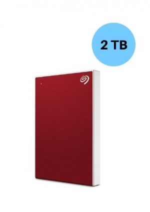 SEAGATE HARDISK 2TB BACK UP PLUS SLIM RED