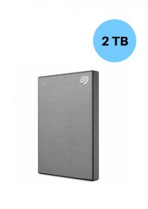 SEAGATE HARDISK 2TB BACK UP PLUS SLIM SPACE GREY