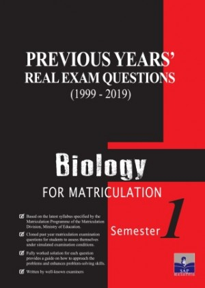 Semester 1 Previous Years Real Exam Questions Biology For Matriculation