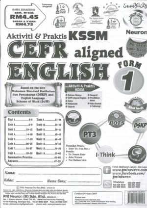 TINGKATAN 1 AKTIVITI & PRAKTIS KSSM CEFR ENGLISH