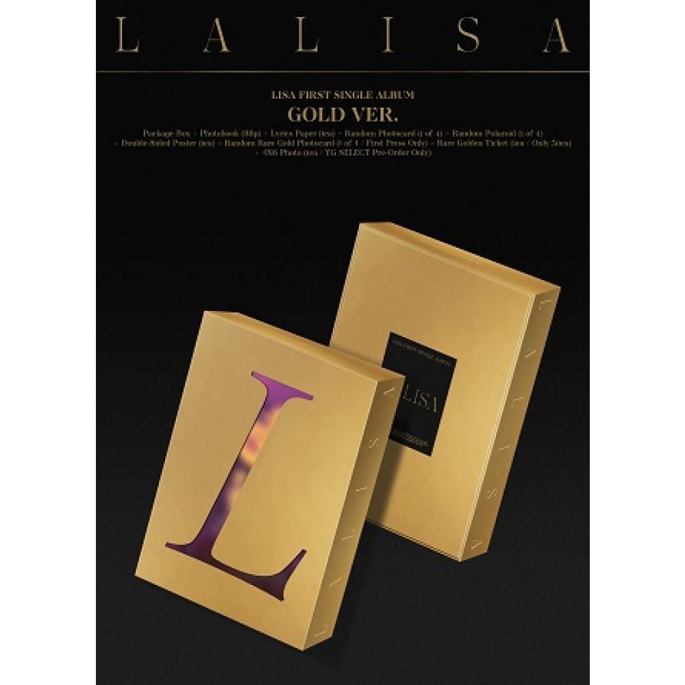 LISA - 1ST SINGLE ALBUM : LALISA (GOLD VER.)