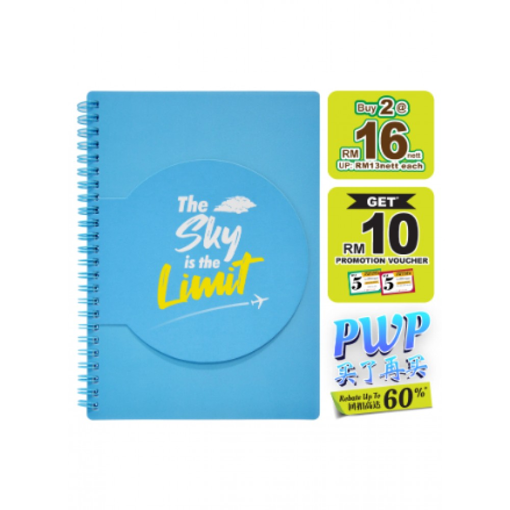 WIN WIN NOTE BOOK A5 80GSM 72'S -THE SKY
