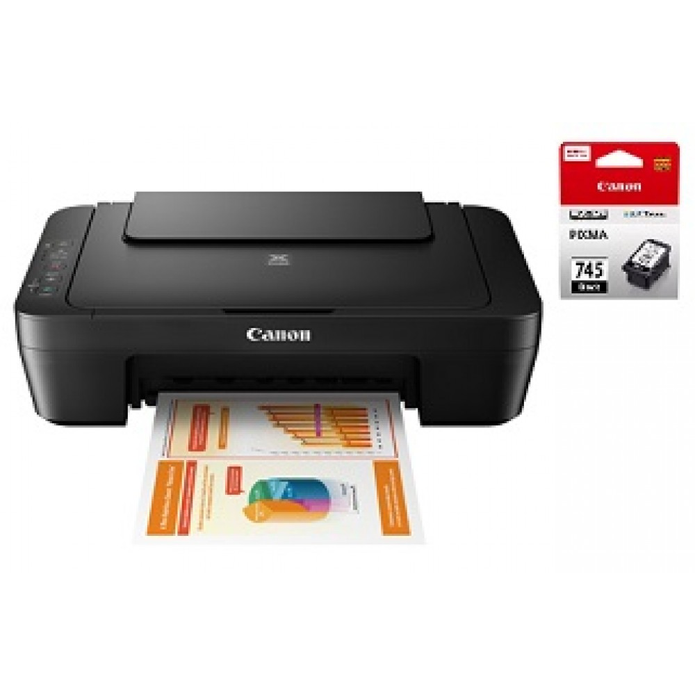 CANON PIXMA MG2570S ALL-IN-ONE PRINTER WITH CANON PG745 BLACK INK BUNDLE