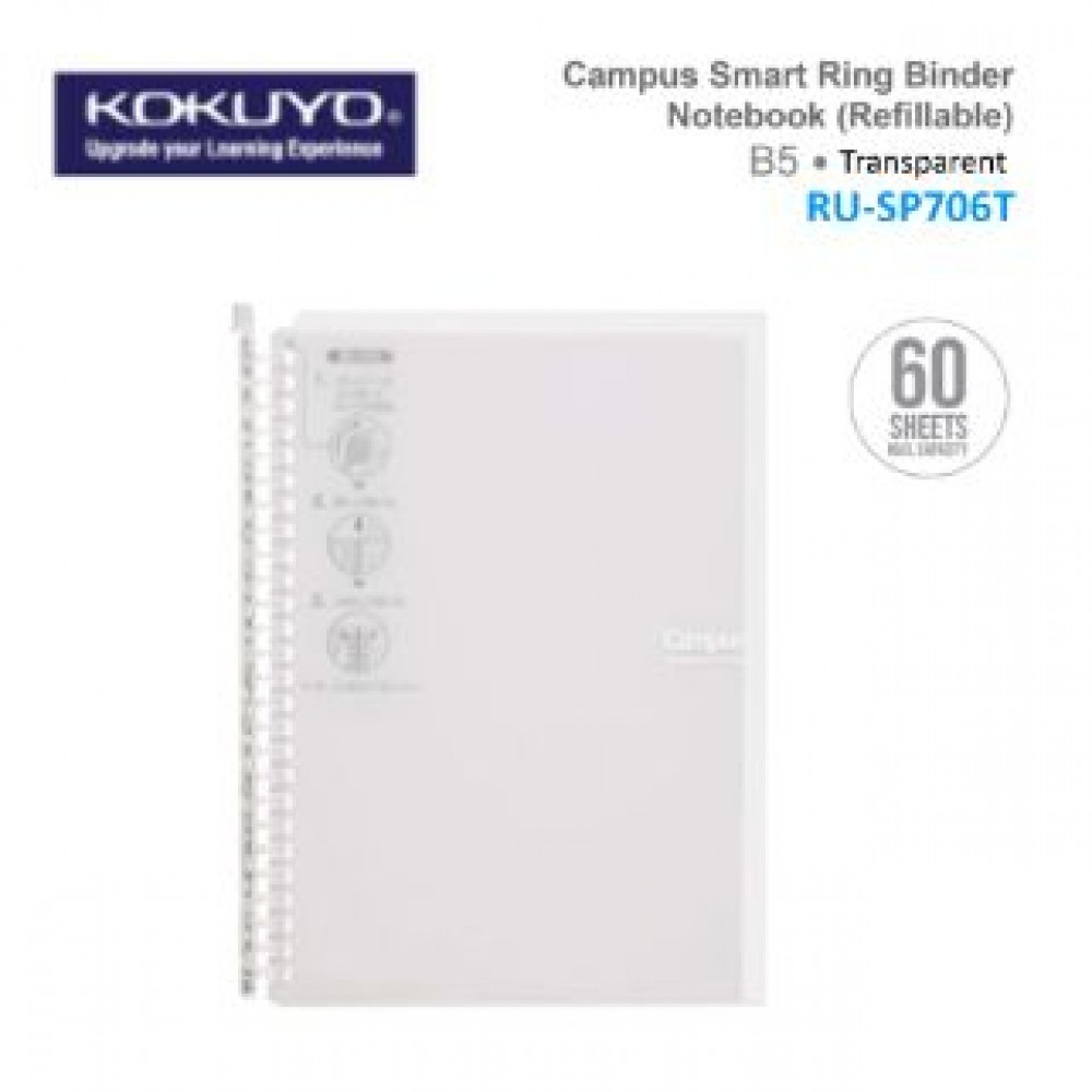 KOKUYO CAMPUS SMART RING BINDER NOTEBOOK B5 (REFILLABLE) RU-SP706T