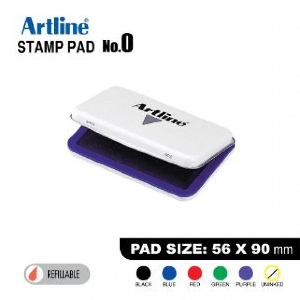 ARTLINE STAMP PAD NO.0 EHJ-2 EHJU-2 56X90mm BLUE