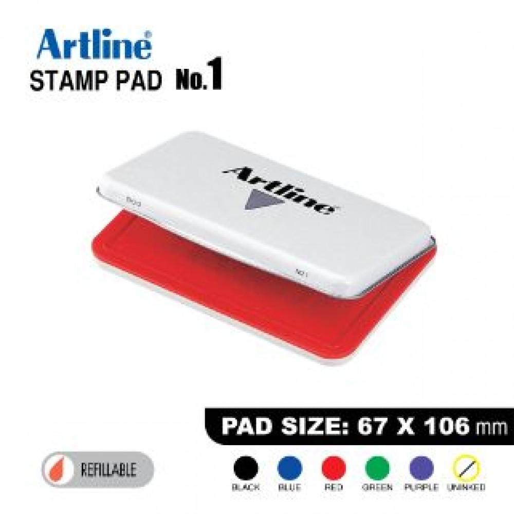 ARTLINE STAMP PAD NO.1 EHJ-3 EHJU-3 67X106mm RED
