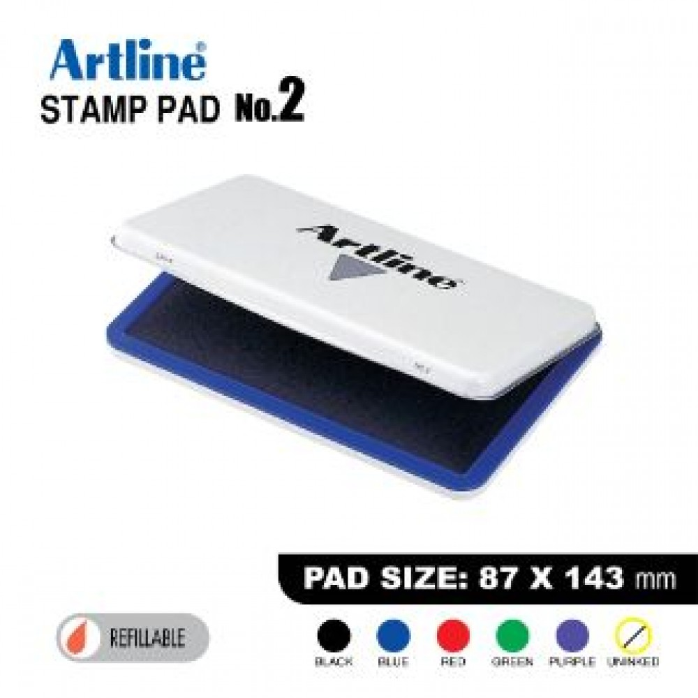ARTLINE STAMP PAD NO.2 EHJ-4 EHJU-4 87X143mm BLUE