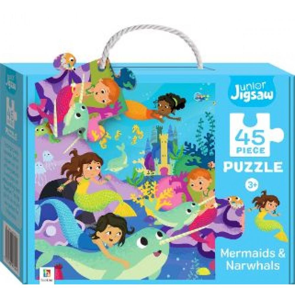 HINKLER JUNIOR JIGSAW PUZZLE MERMAIDS & NARWHALS 45PCS