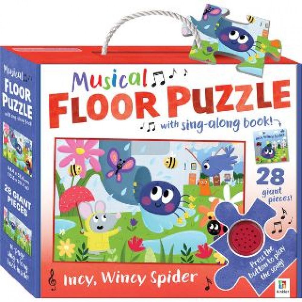 HINKLER MUSICAL FLOOR PUZZLE INCY WINCY SPIDER 28PCS