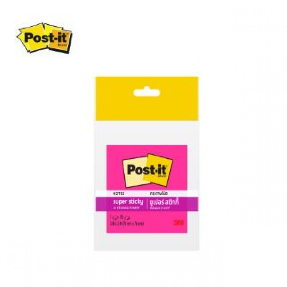 """3M POST-IT SUPER STICKY 3X3"""" 90'S 654-SSN NEON Pink"""