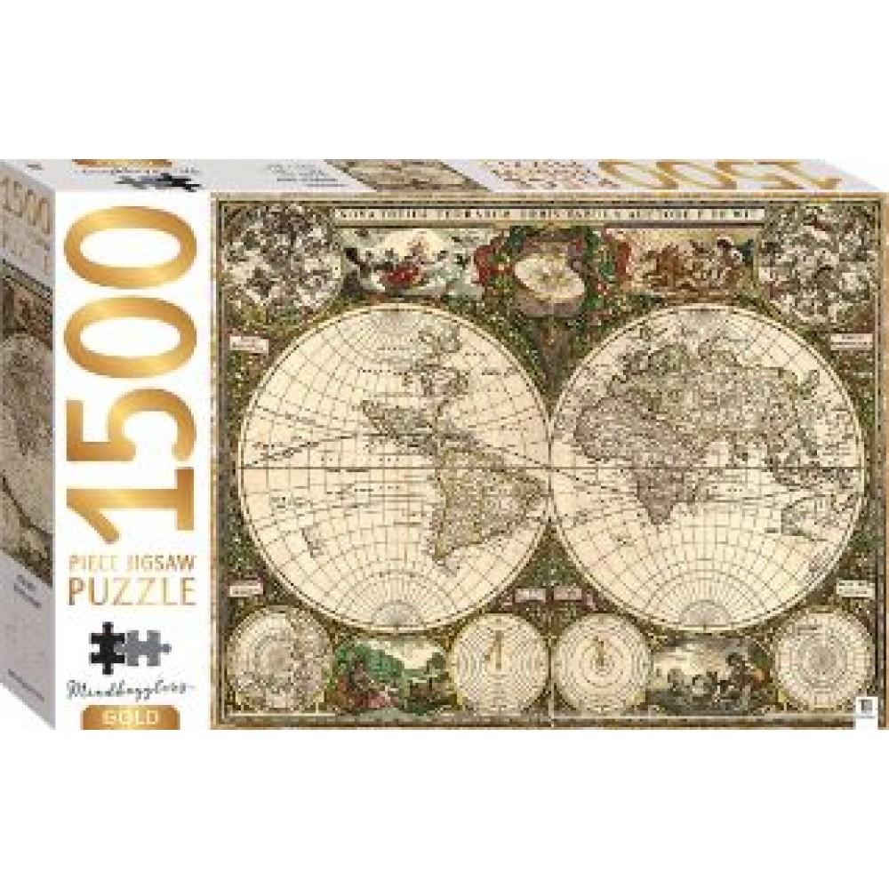 HINKLER PUZZLE VINTAGE WORLD MAP 1500PCS