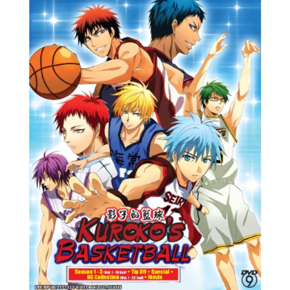 KUROKO'S BASKETBALL   影子的籃球 SEASON 1 - 3 ( VOL. 1 - 78 END) + TIP OFF + SPECIAL  +  NG COLLECTION (VOL. 1 - 22 END) + MOVIE (6DVD9+2DVD5)