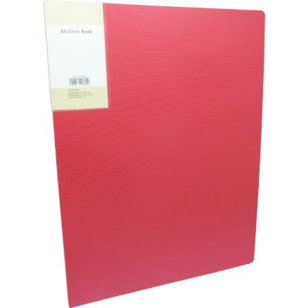 POP BAZIC DISPLAY BOOK A4 60 POCKETS RED