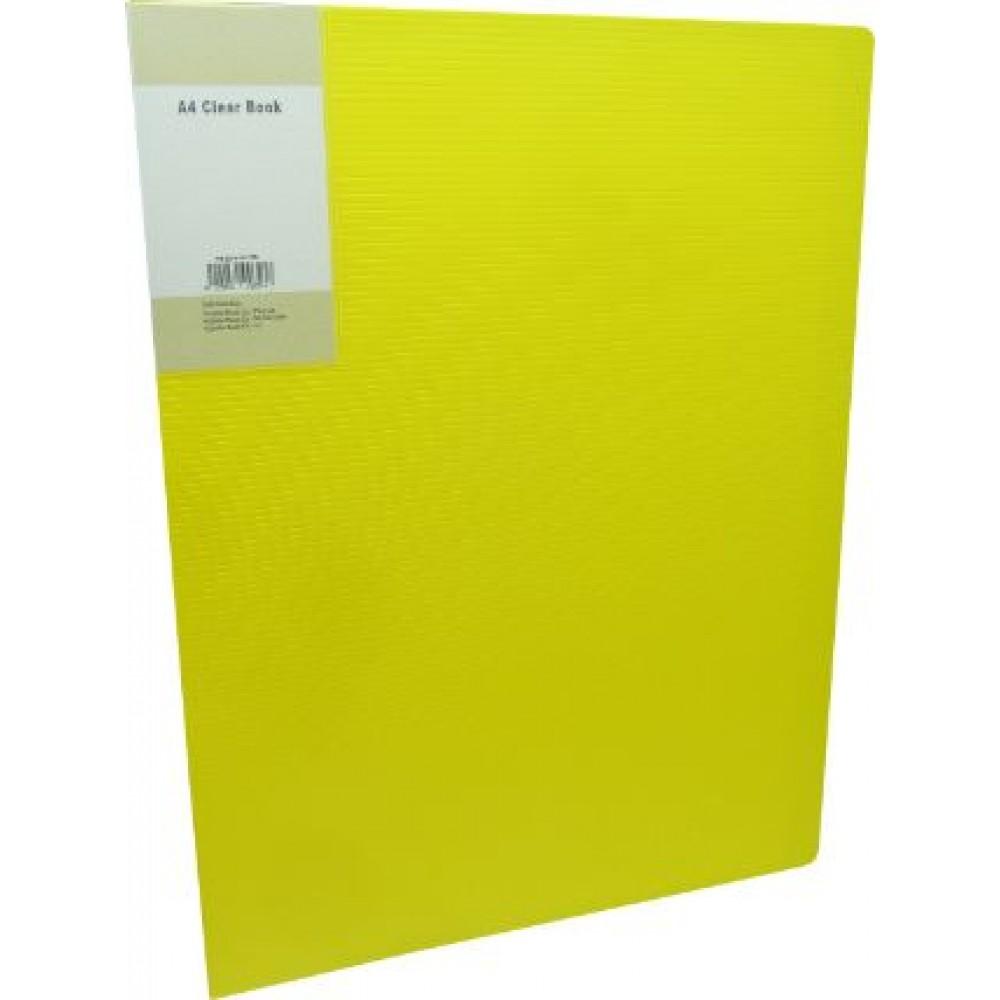 POP BAZIC DISPLAY BOOK A4 60 POCKETS YELLOW