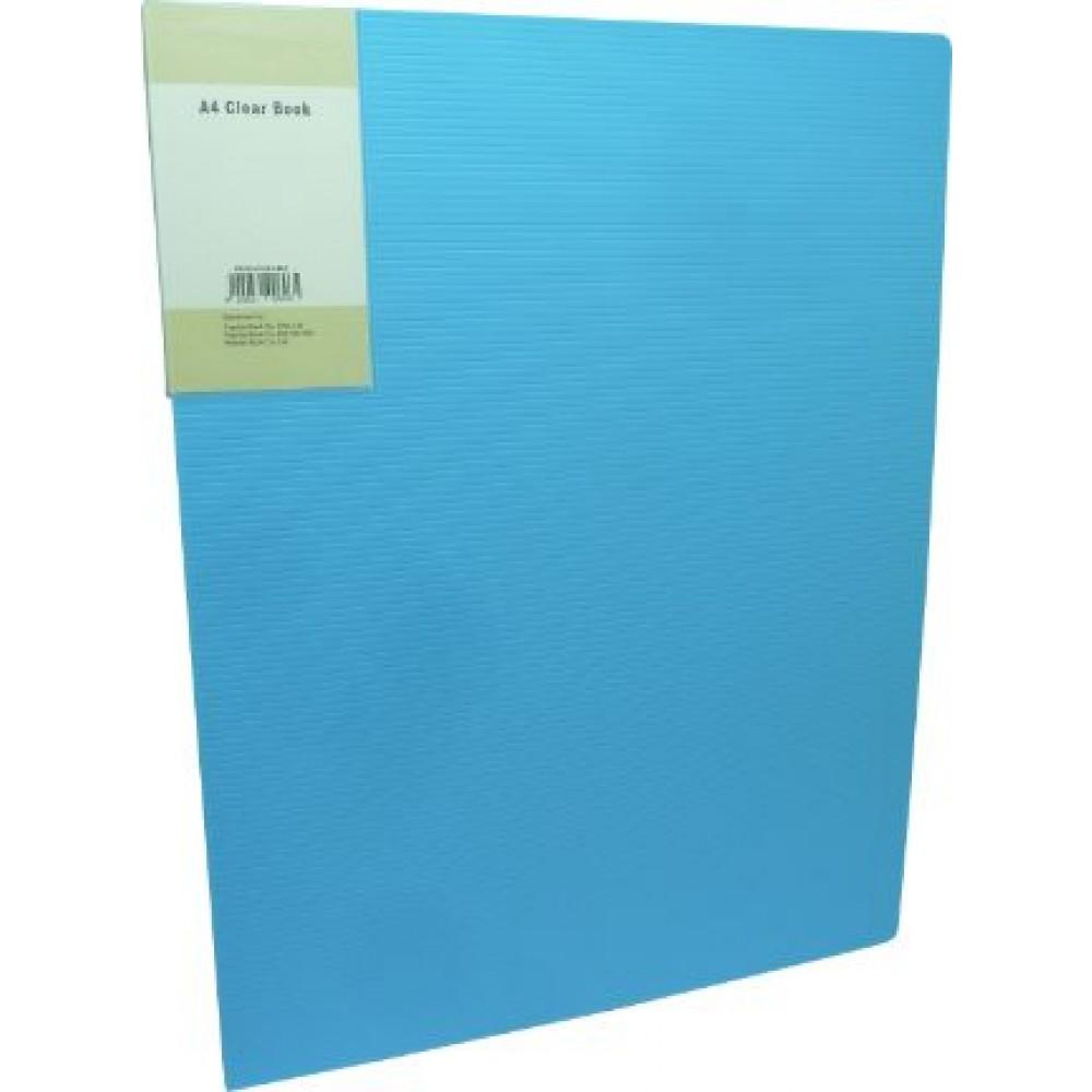 POP BAZIC DISPLAY BOOK A4 60 POCKETS LIGHT BLUE