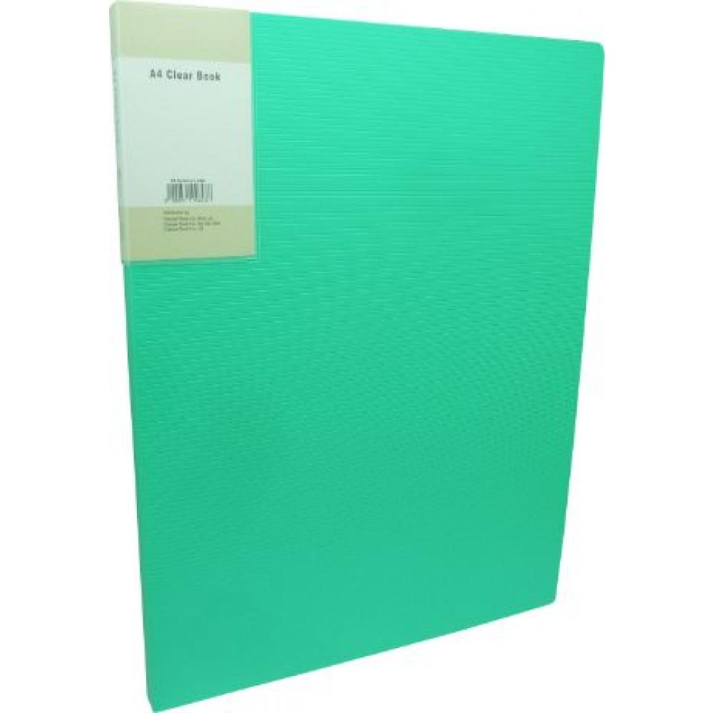 POP BAZIC DISPLAY BOOK A4 60 POCKETS LIGHT GREEN