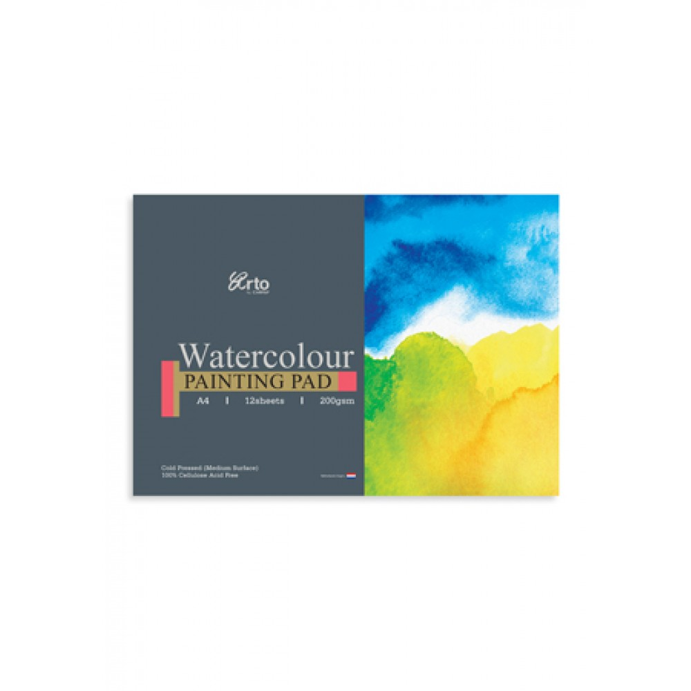 ARTO WATERCOLOUR PAINTING PAD A4 200GSM 12 SHEETS