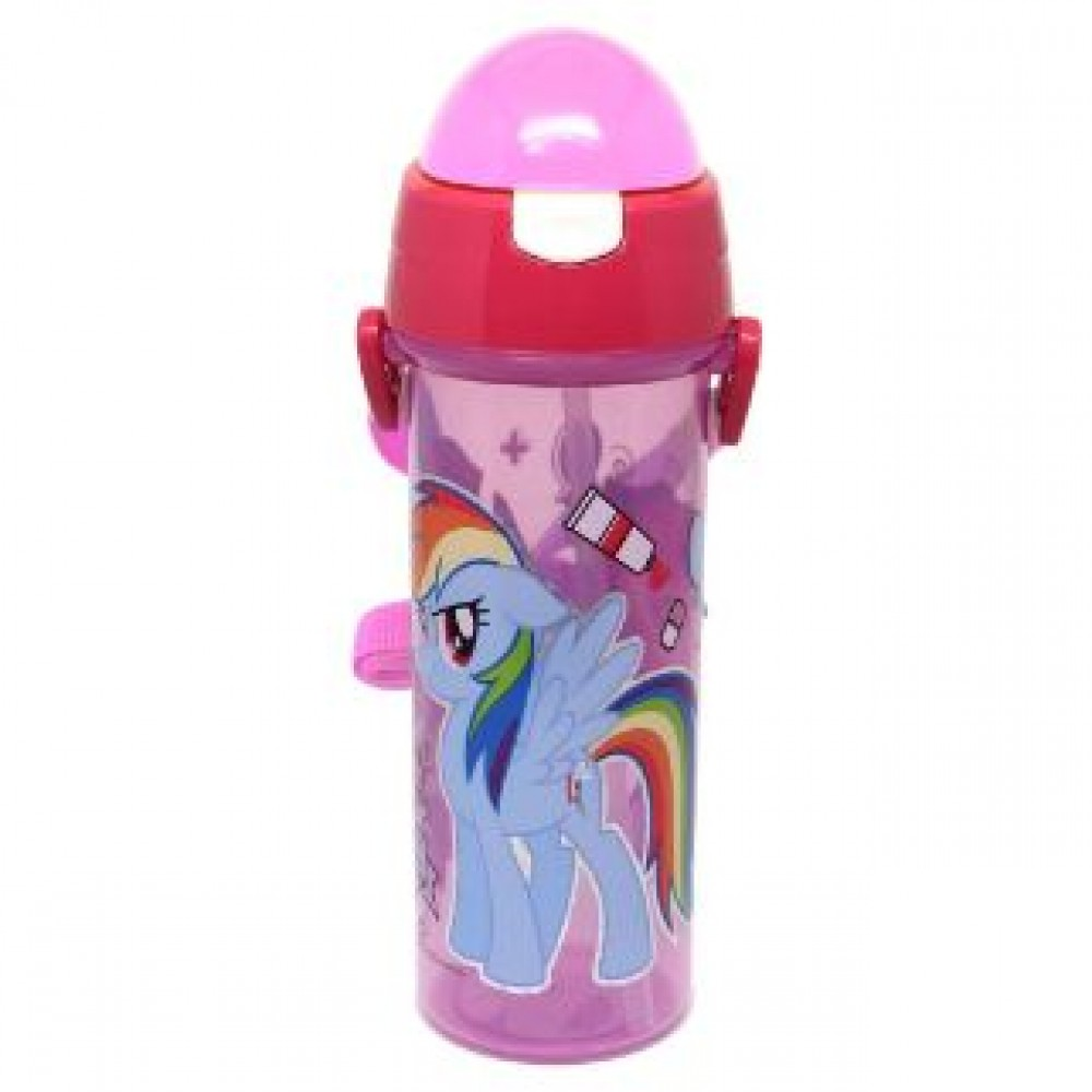 MY LITTLE PONY WATER BOTTLE WITH STRAW 600ML