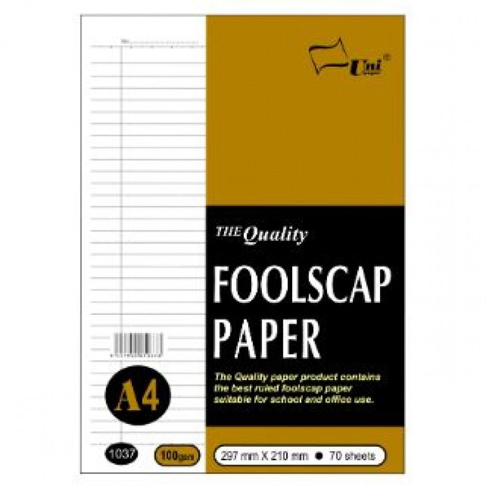 UNI 1037 Foolscap Paper A4 100gsm 70 sheets