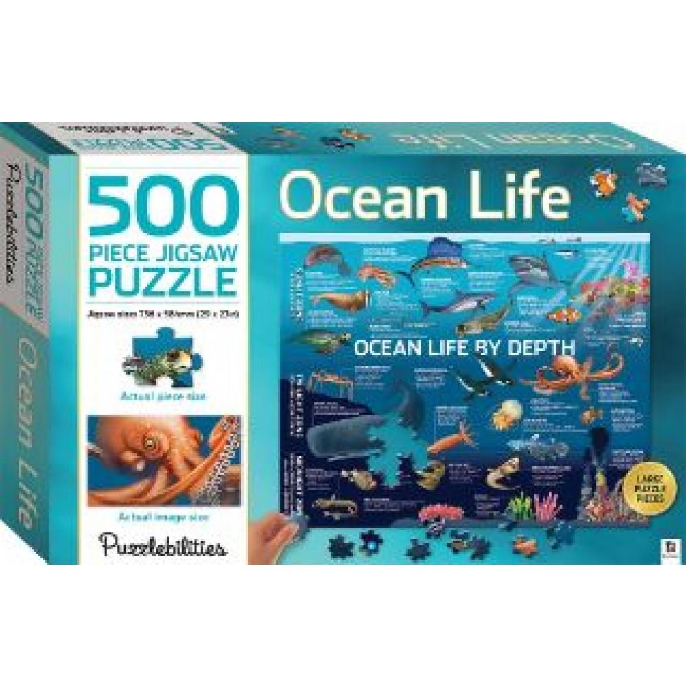 HINKLER JIGSAW PUZZLE OCEAN LIFE BY DEPTH 500PCS