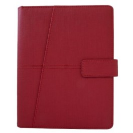 Agenda Planner - Thermo PU Sandy - Red Colour