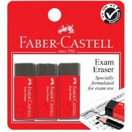 FABER-CASTELL EXAM ERASER SLIM 3PCS