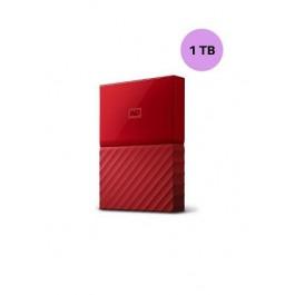 WESTERN DIGITAL HARD DISK 1TB MY PASSPORT RED