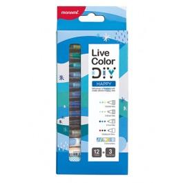 MONAMI Live Color DIY Happy Kit – 12 Colors + 3 Connectors