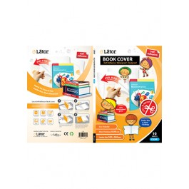 LATOR ADHESIVE BOOK COVER (CLEAR) 10'S 9695