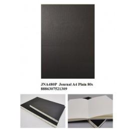 ECOMAZ Journal A4 Plain 80 sheets 100g paper Black Colour