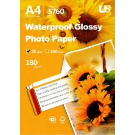 U8 A4  GLOSSY PAPER 180GSM (20sheets)
