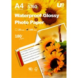 U8 A4 HIGHLY GLOSSY PAPER 180GSM (100sheets)