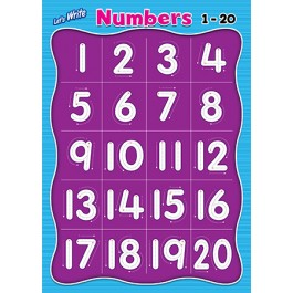 LET'S WRITE-NUMBERS 1-20