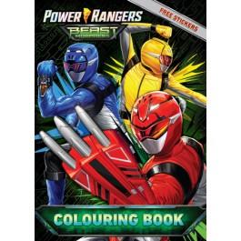 POWER RANGER COLOURING BOOK SET(WITH STICKER & COLOUR PENCIL)