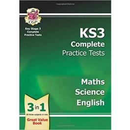 KS3 COMPLETE PRAC TESTS-SCI,MATHS&ENG'13