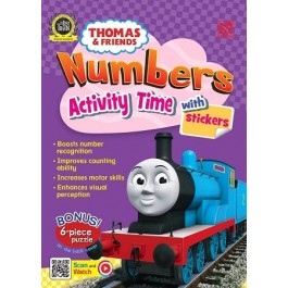 THOMAS & FRIENDS : NUMBERS ACTIVITY TIME WITH STICKERS