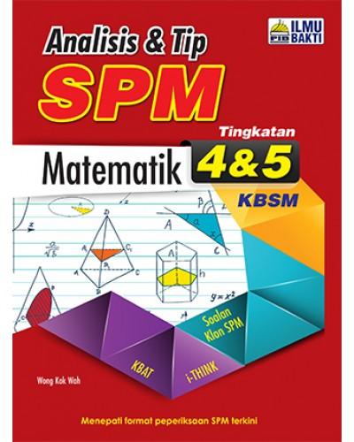 Tingkatan 4 5 Analisis Tip Spm Matematik