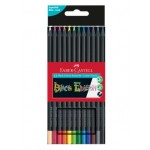 FABER-CASTELL BLACK EDITION COLOUR PENCILS - 12 LONG