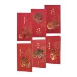 CHINESE NEW YEAR GREETING CARD EMBOSSED 11*21CM