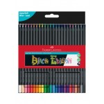 FABER-CASTELL BLACK EDITION COLOUR PENCILS - 24 LONG
