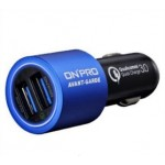ONPRO GT-2PQC3 DUAL USB CAR CHARGER BLUE