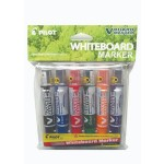 Pilot V Board Master Whiteboard Marker Set of 6 Fine with PVC Pouch