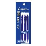 PILOT BP-1RT Ball Pen Fine Blue (3 Pieces in Pack)