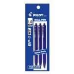 PILOT BP-1RT Ball Pen Medium Blue (3 Pieces in Pack)