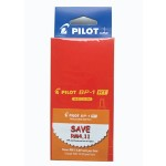 Pilot BP-1RT Ball Pen Medium Red in Dozen Pack (12 pieces)