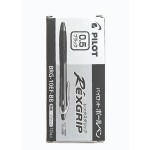 Pilot Rexgrip Ball Pen 0.5mm Black in Box of 10 pieces