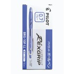 Pilot Rexgrip Ball Pen 0.7mm Blue in Box of 10 pieces