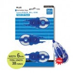 PLUS WHIPER SLIDE CORRECTION TAPE REFILLS 36M x 6m (3 in 1) FREE APPLICATOR