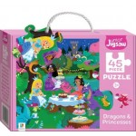 HINKLER JUNIOR JIGSAW PUZZLE GRADONS & PRINCESSES 45PCS