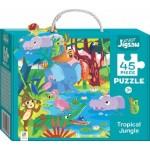 HINKLER CHILDREN JIGSAW PUZZLE TROPICAL JUNGLE 45PCS